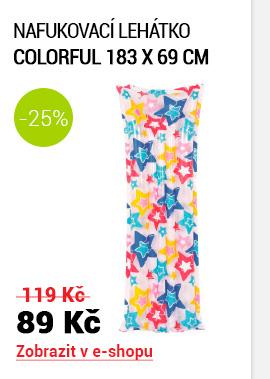 nafukovací lehátko Colorful