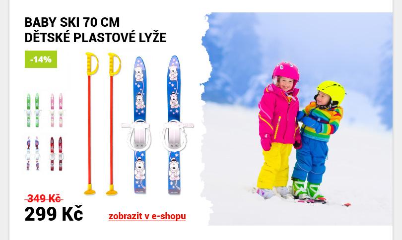 Dětské plastové lyže Baby Ski
