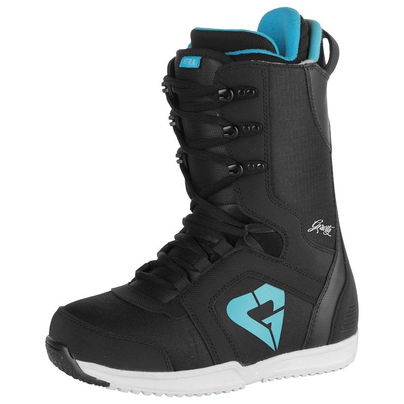 Boty na snowboard GRAVITY Aura - černé - vel. 37