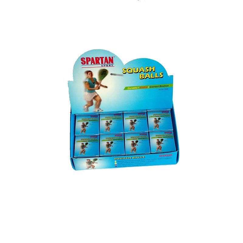Squash míček SPARTAN - 2x žlutá tečka