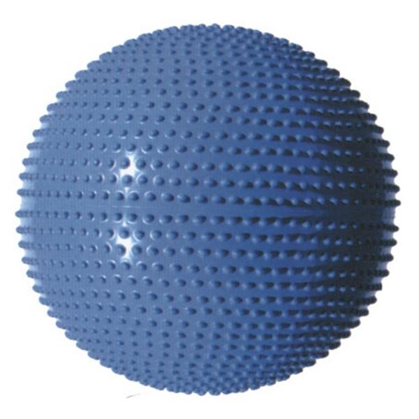 Masážní gymnastický míč průměr 65 cm - stříbrný