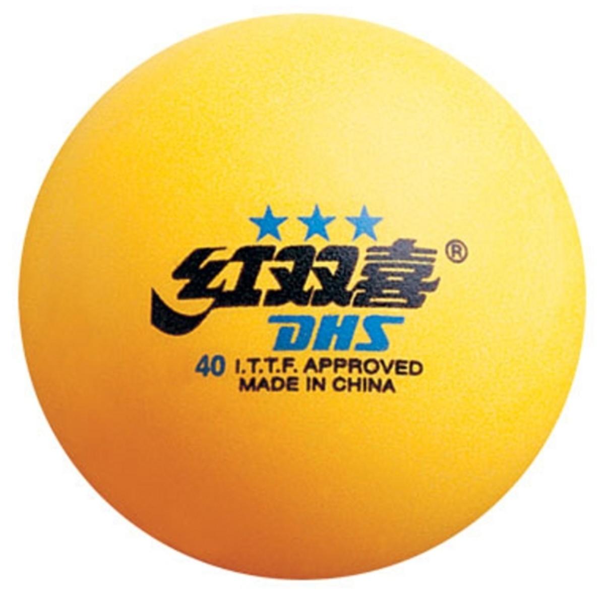 Míčky na stolní tenis DOUBLE HAPPINES*** - žluté 3ks