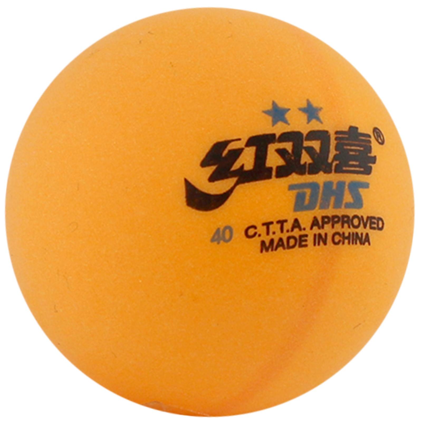 Míčky na stolní tenis DOUBLE HAPPINES ** - žluté 6 ks