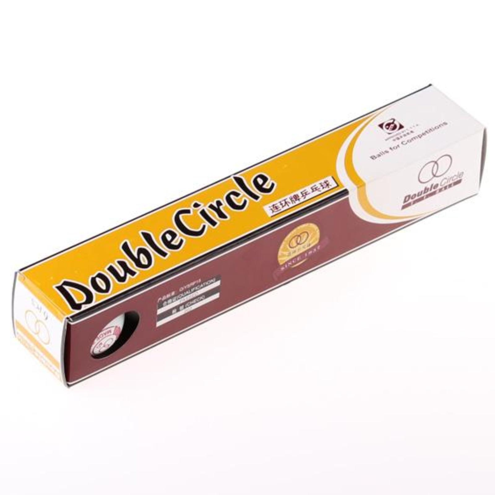 Míčky na stolní tenis DOUBLE Circle 6 ks