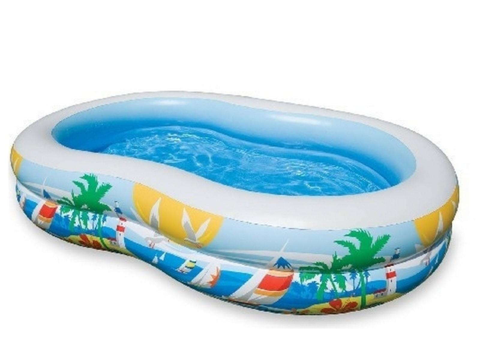 Nafukovací bazén INTEX Ovál Laguna 262 x 160 cm