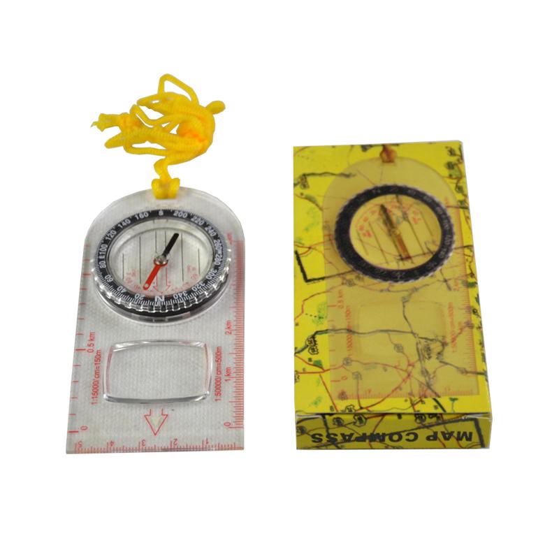 Kompas (buzola) ovál s lupou