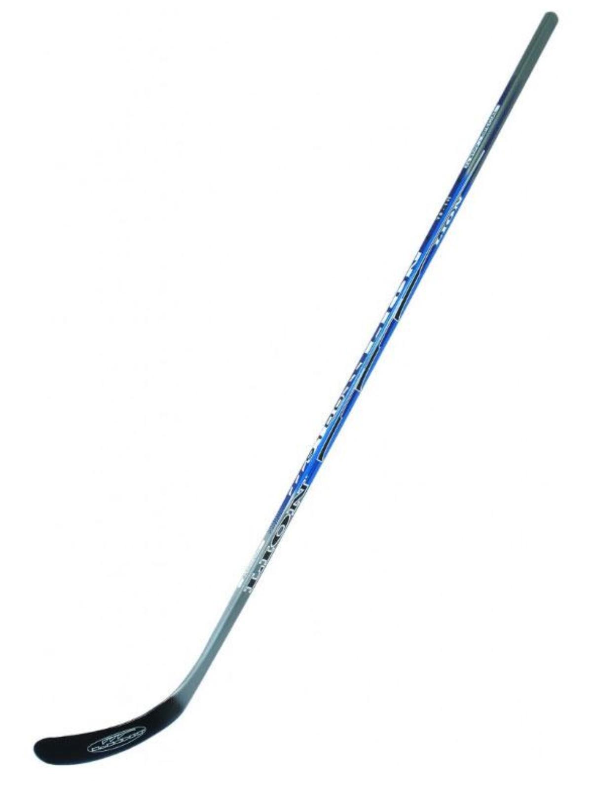Hokejka LION 9100 - 152 cm pravá - modro-stříbrná