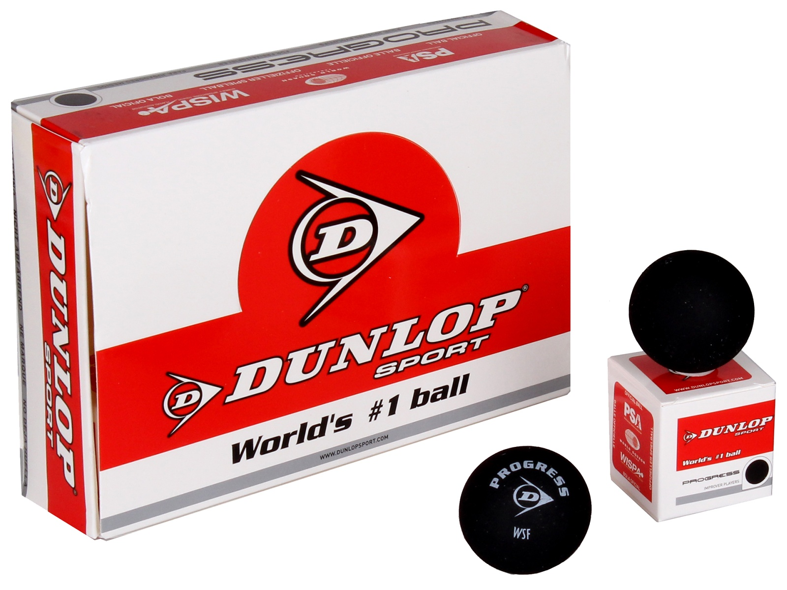 Squashový míček DUNLOP Progress - červená tečka