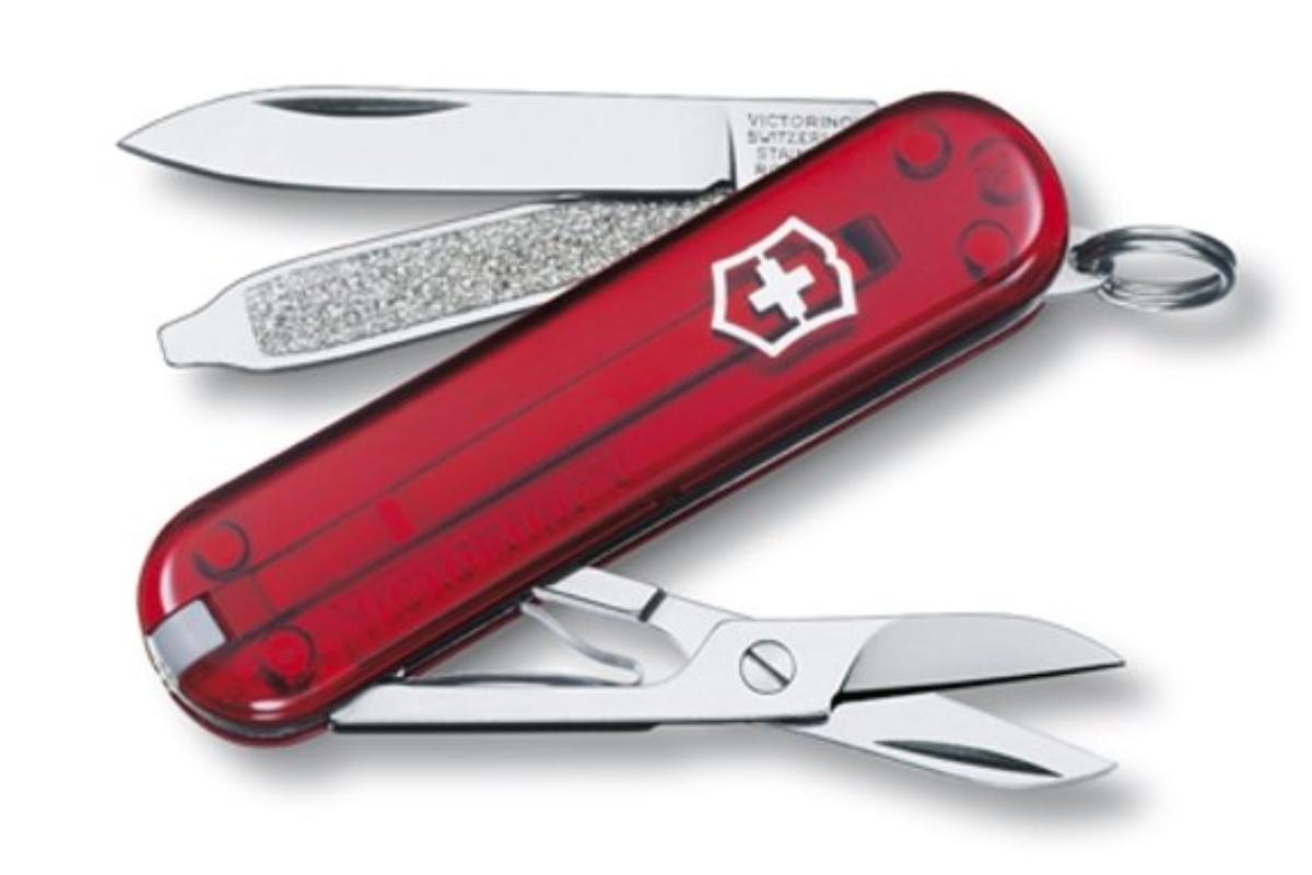 Kapesní nůž VICTORINOX Classic SD- červený transp.