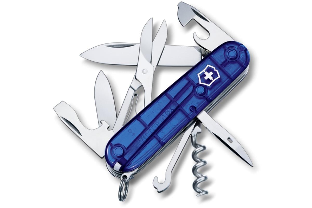 Kapesní nůž VICTORINOX Climber - modrý transp.