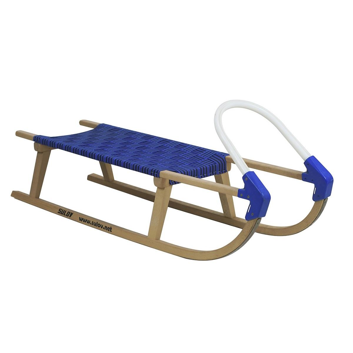 Sáně dřevěné SULOV Lavina délka 110 cm - modro-černé