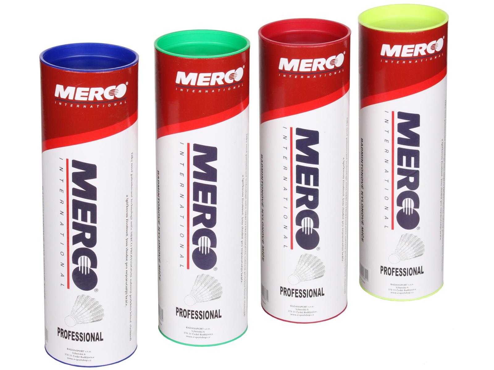 Badmintonové míčky MERCO Professional - zelené