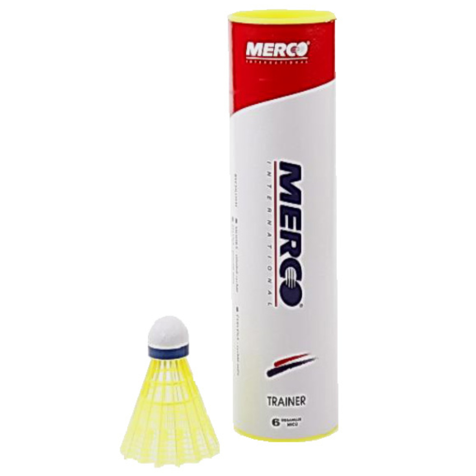 Badmintonové míčky MERCO Trainer Pro - modré, 6ks