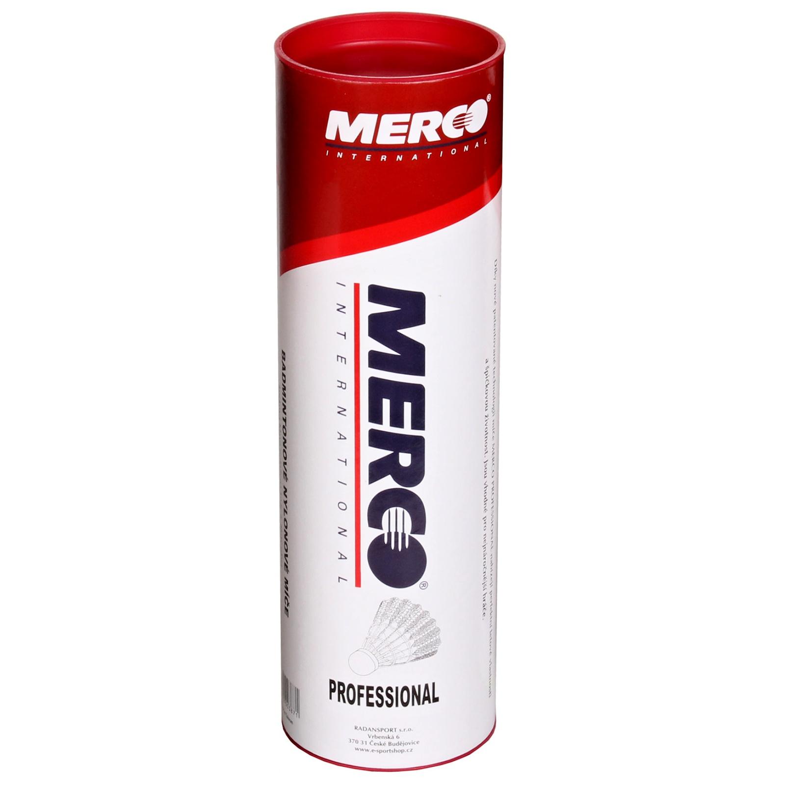 Badmintonové míčky MERCO Professional - červené