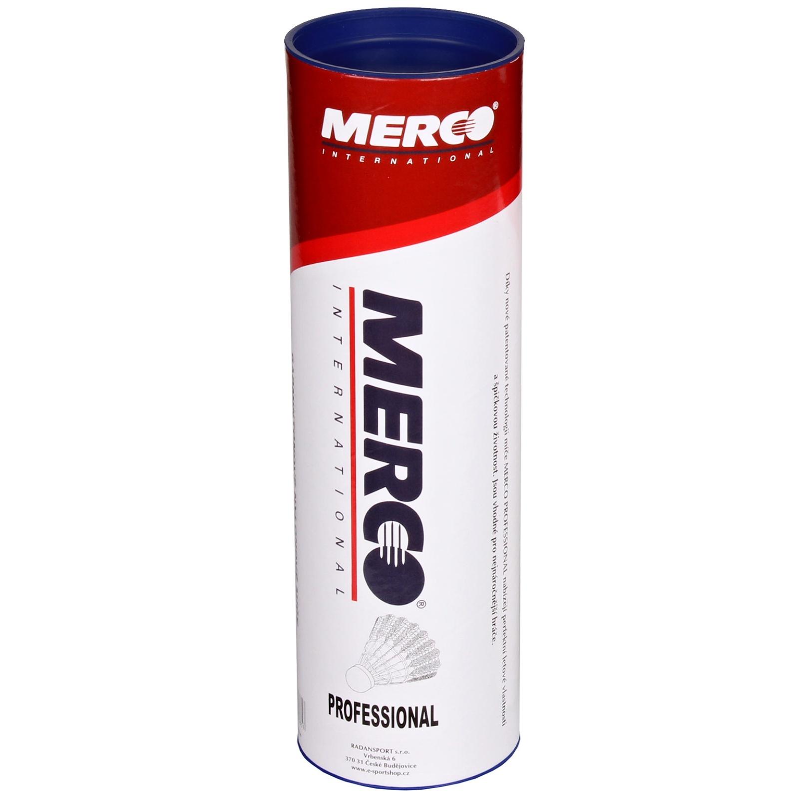 Badmintonové míčky MERCO Professional - černé