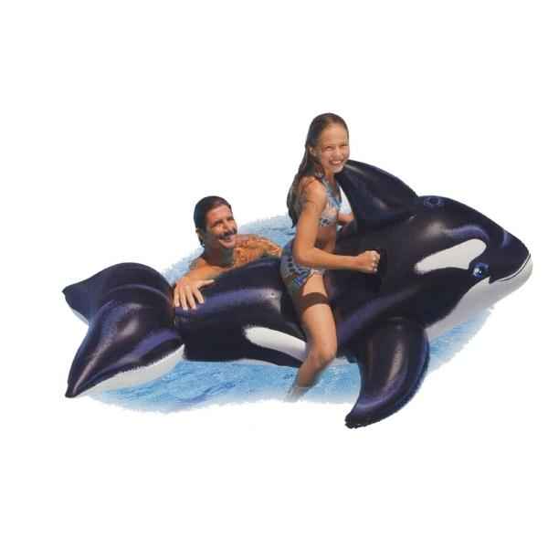 Nafukovací velryba s úchyty 193 x 119 cm