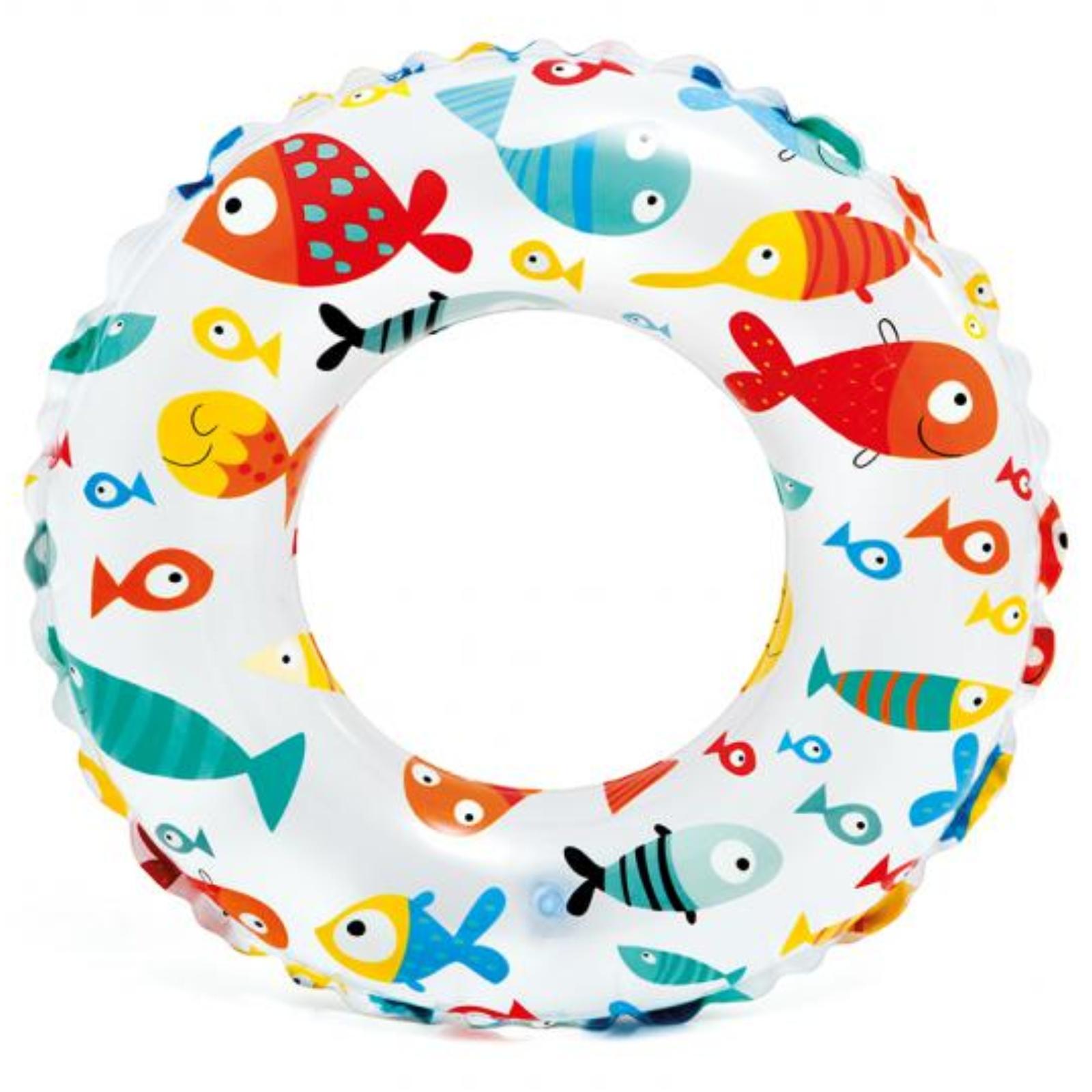 Nafukovací plavecký kruh INTEX Mořský potisk 51 cm