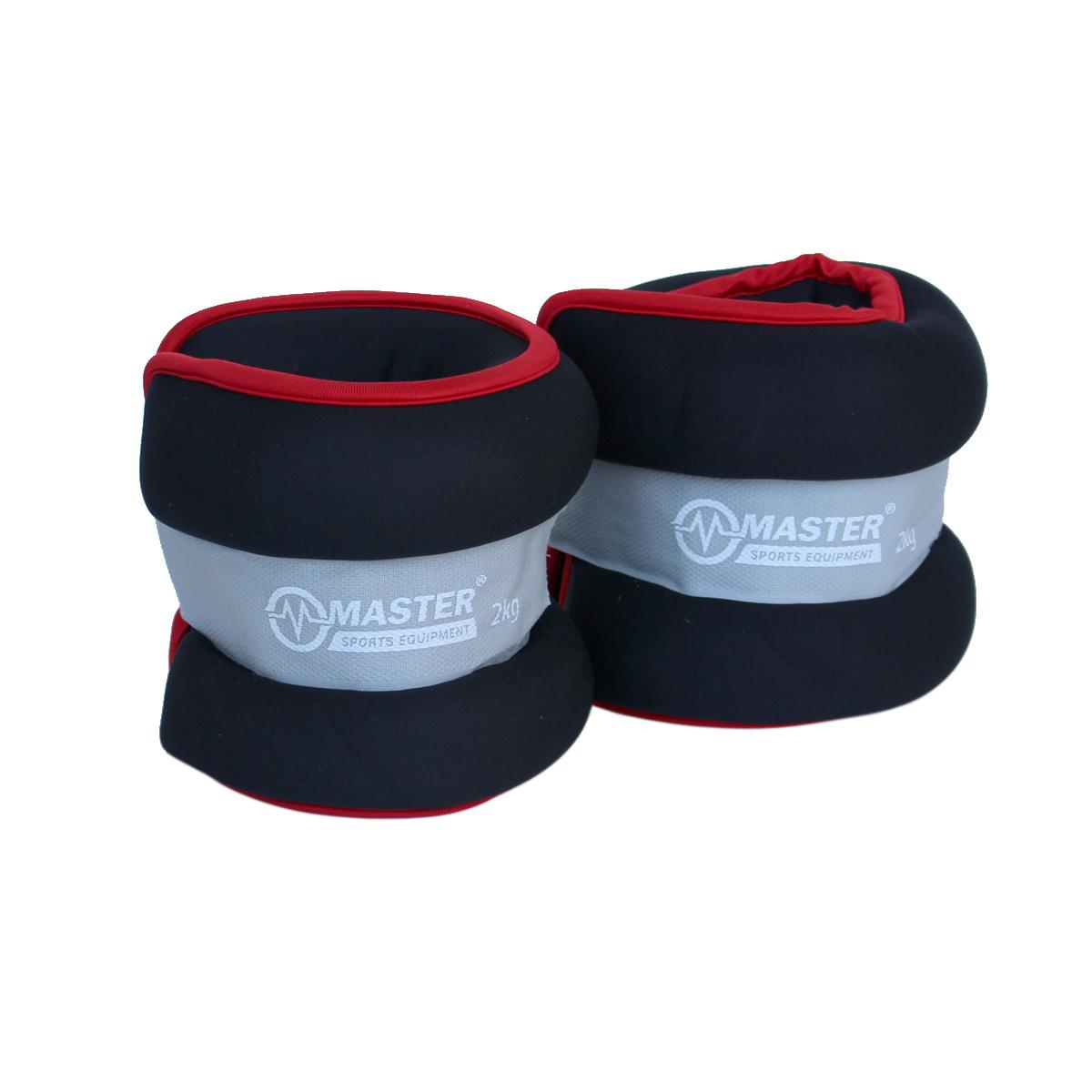 Kondiční zátěž na zápěstí a nohy MASTER 2 x 2 kg - neopren