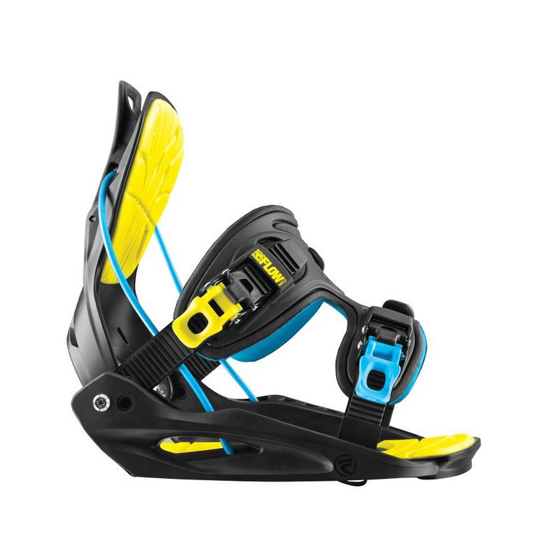 Snowboard vázání FLOW Haylo - black/neon