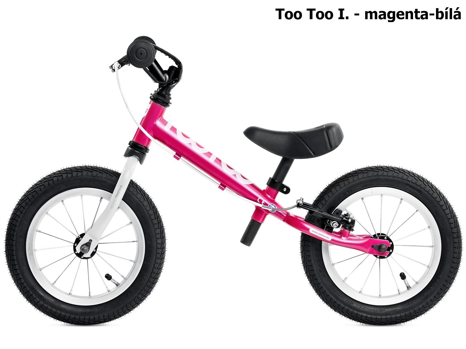 Dětské odrážedlo YEDOO Too Too I. - magenta-bílé