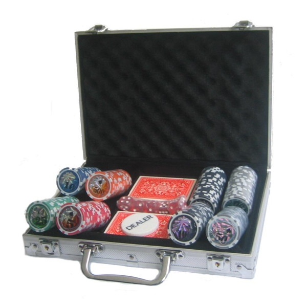 Poker set 200 v kufříku Deluxe s označením hodnot