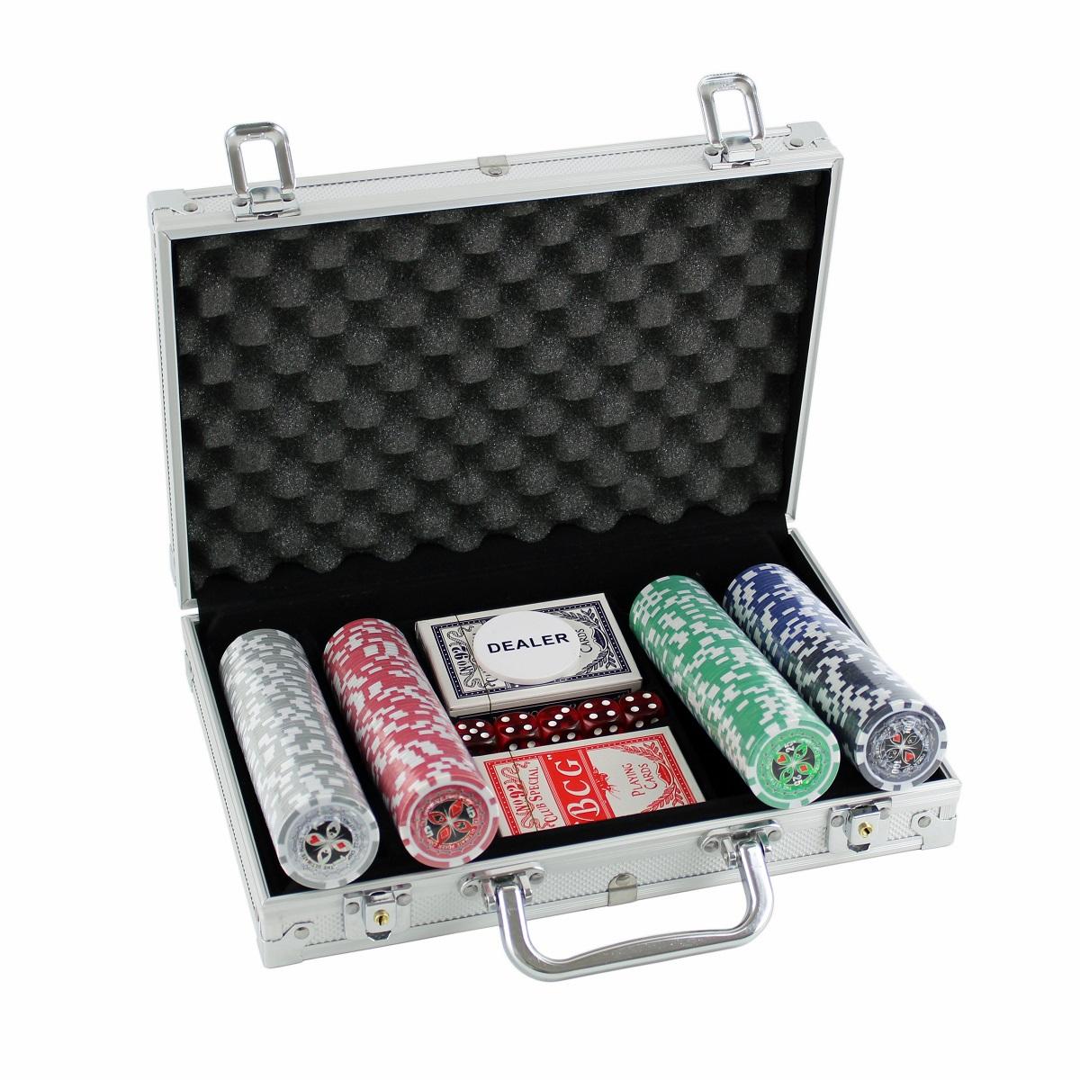 Poker set MASTER 200 v kufříku Deluxe s označením hodnot