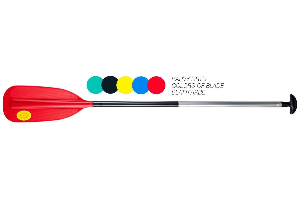 Pádlo PANDA pro kánoe - raft červené - vel. 165 cm
