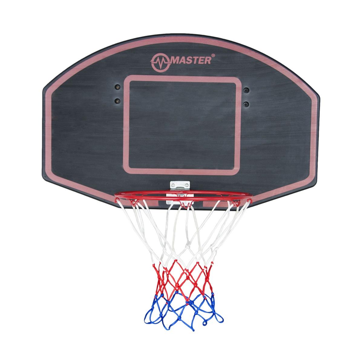 Basketbalový koš s deskou MASTER 71 x 45 cm - černý