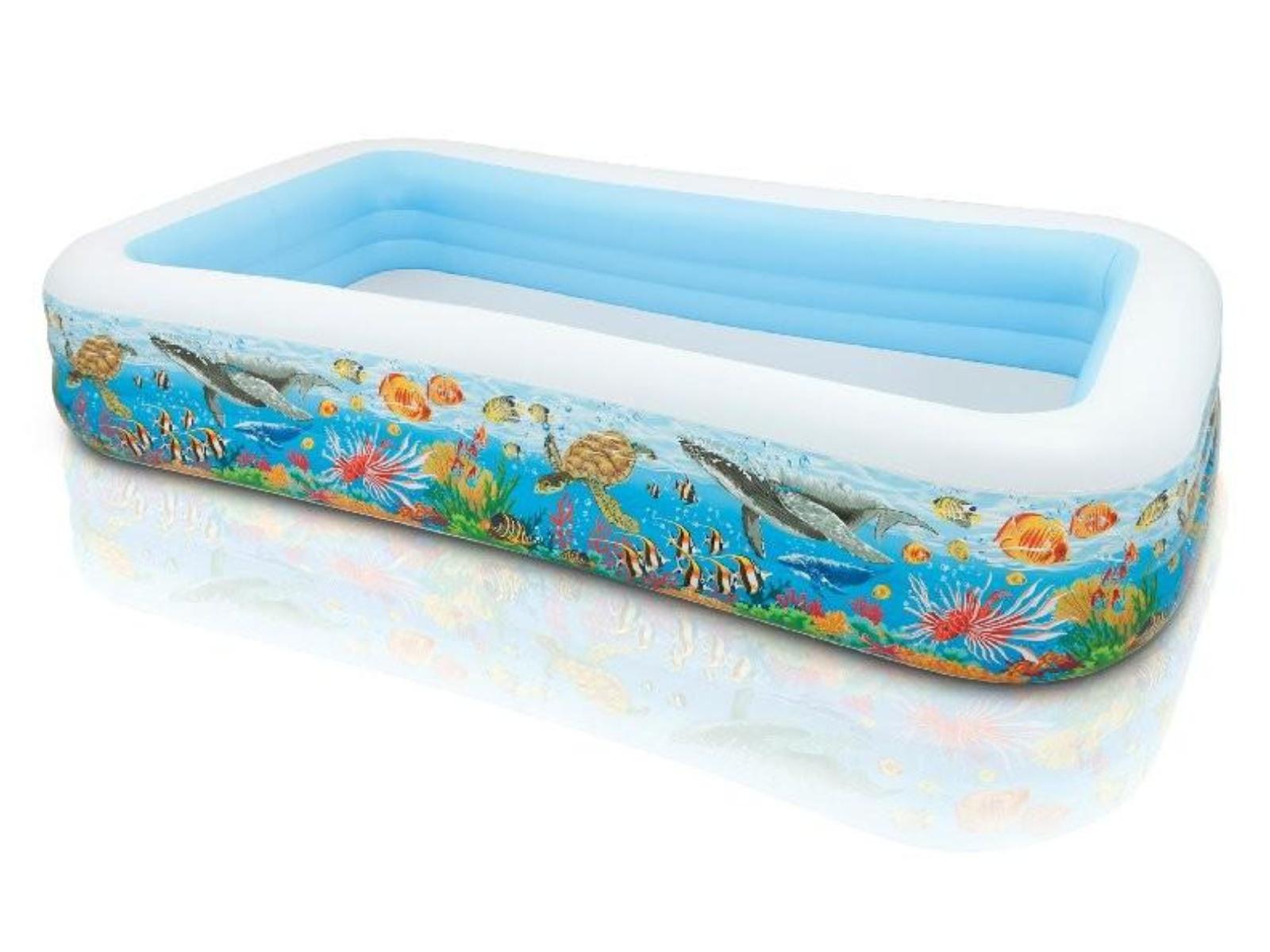 Nafukovací bazén INTEX Family obdélník potisk 305 x 183 x 56 cm