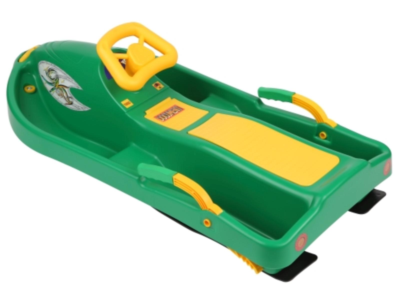 Boby Snow boat dětské řiditelné - zelené