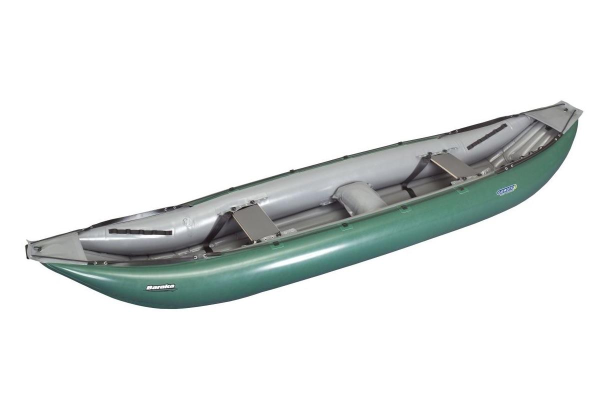 Nafukovací kanoe GUMOTEX Baraka zeleno-šedá - SET
