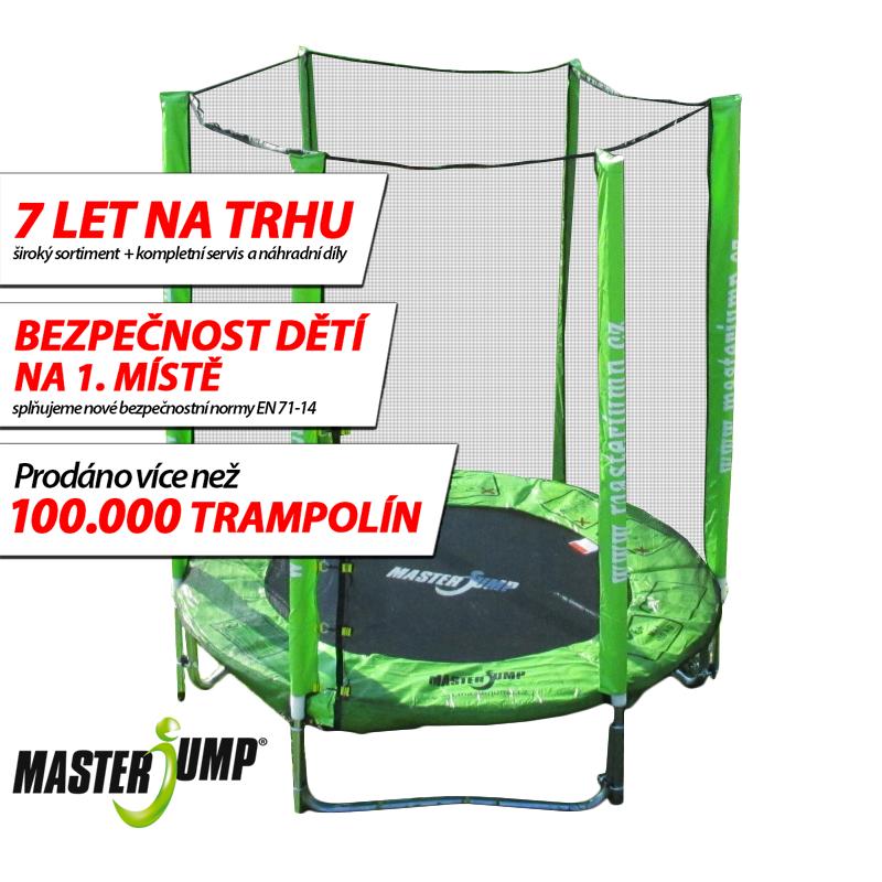 SET trampolína MASTERJUMP 182 cm + ochranná síť vnější