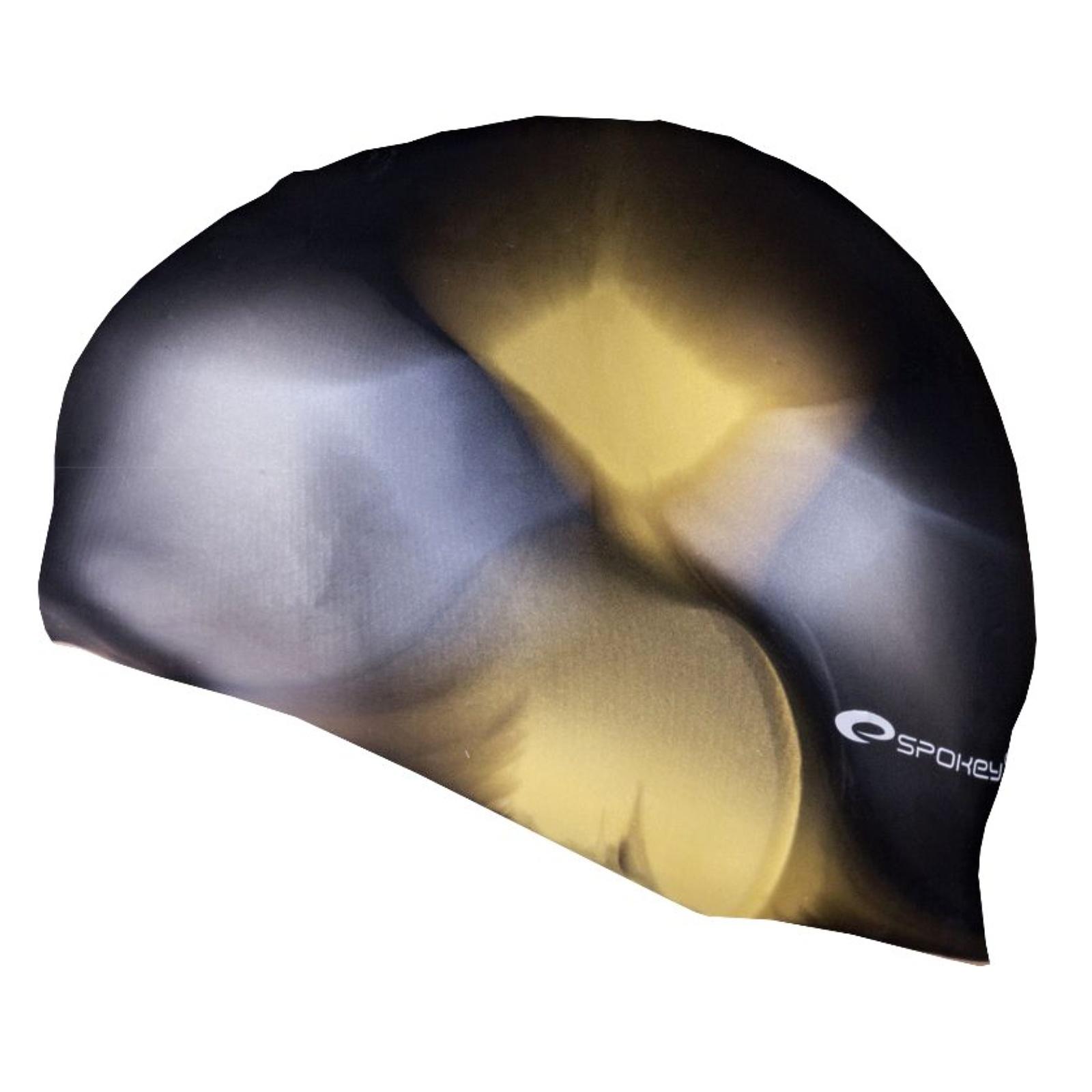 Plavecká čepice SPOKEY Abstract - černo-zlatá