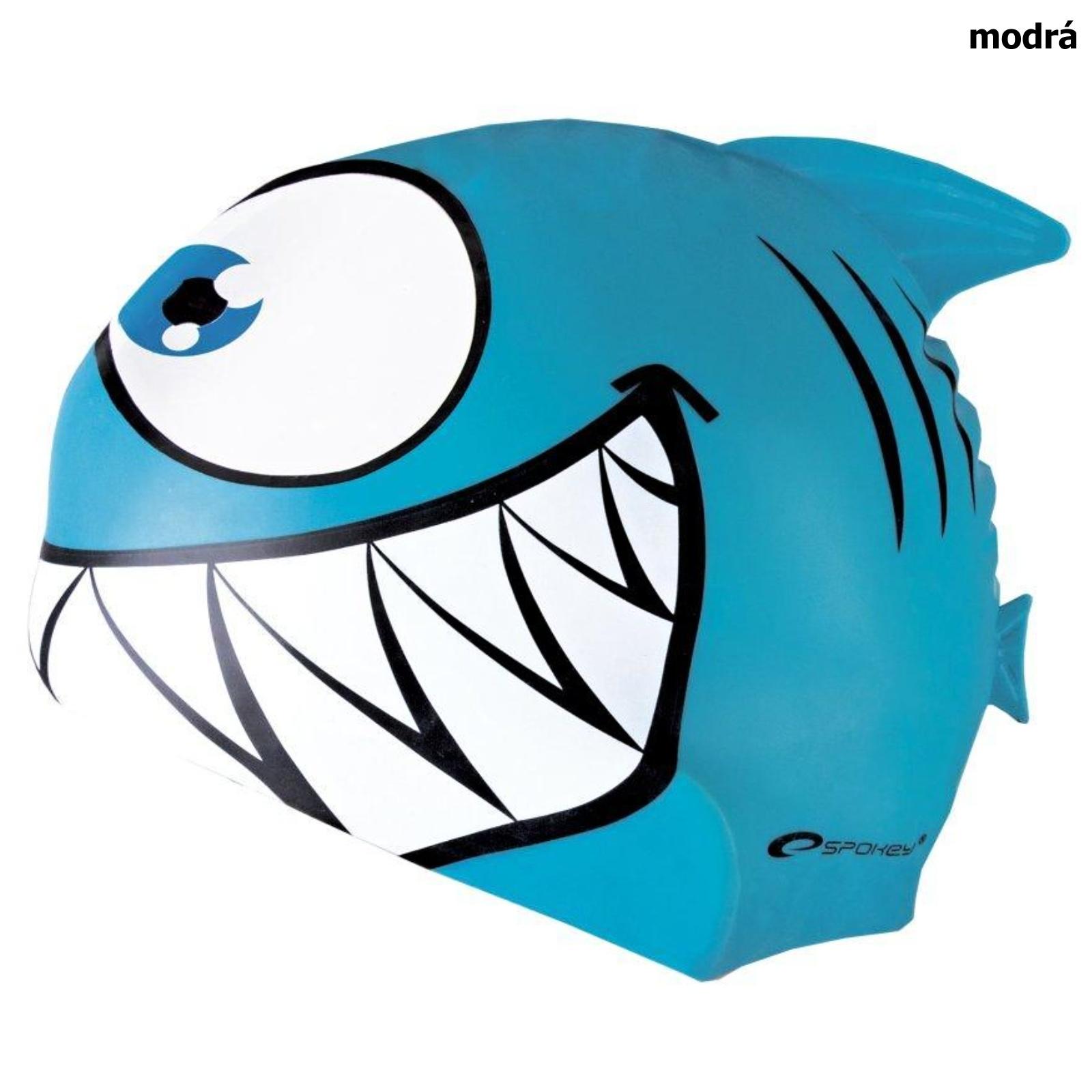 Plavecká čepice SPOKEY Rekinek - modrá