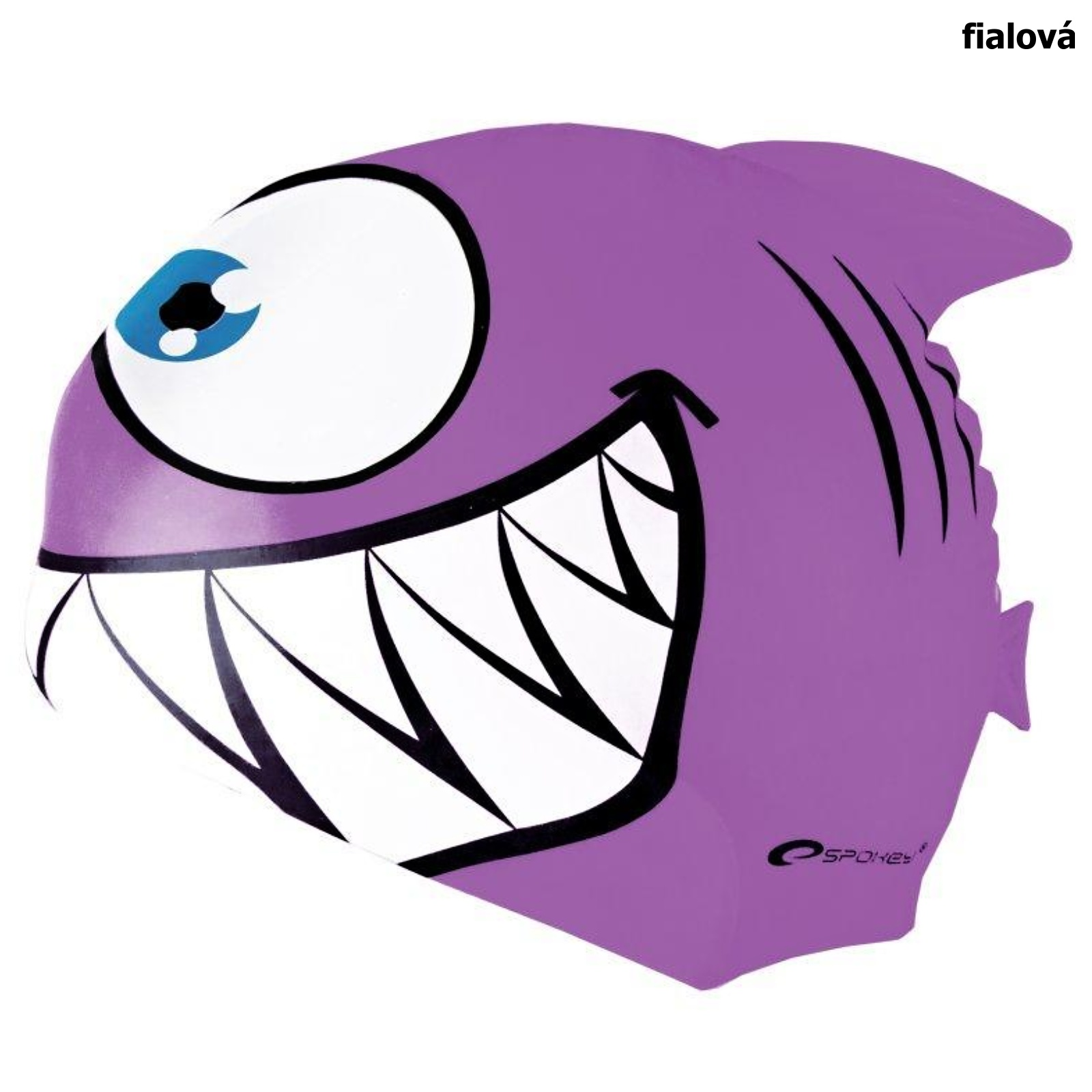 Plavecká čepice SPOKEY Rekinek - fialová