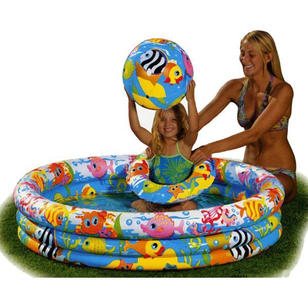 Nafukovací bazén INTEX Fishbowl set 132 x 28 cm