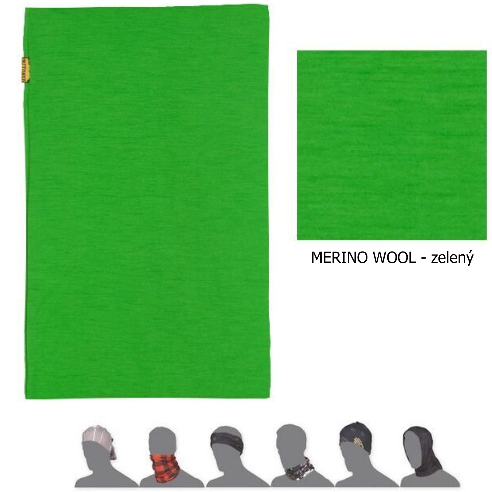 Šátek SENSOR Tube Merino wool zelený