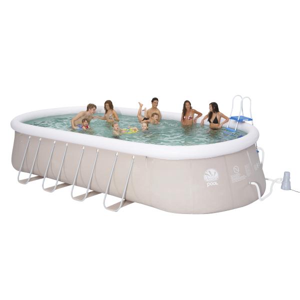Bazén ovál Prompt Pool 610 x 360 cm set s kartušovou filtrací