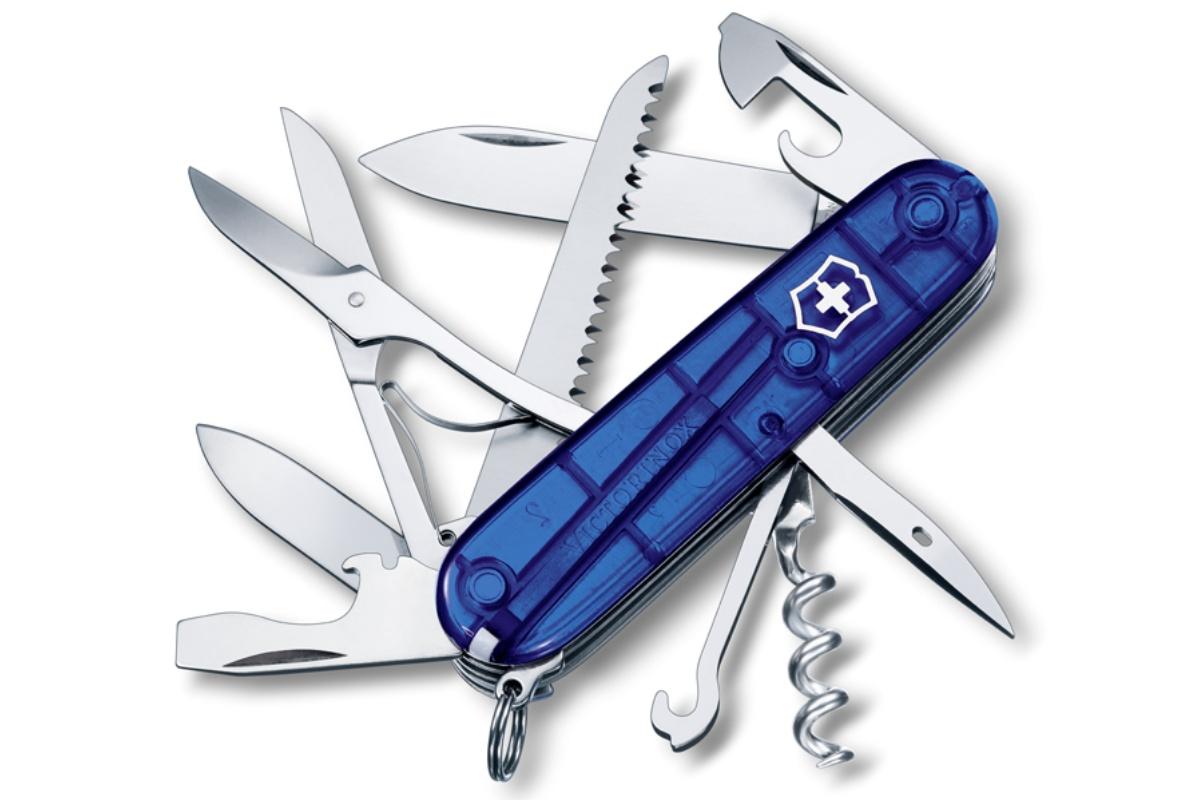 Kapesní nůž VICTORINOX Huntsman - průhledně modrý