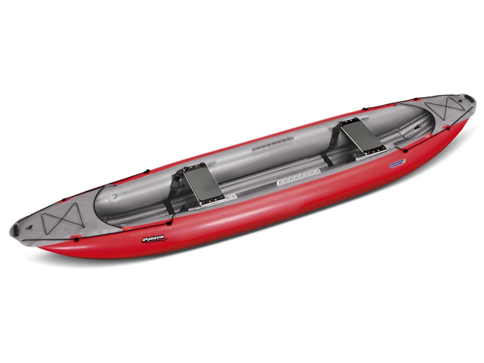 Nafukovací kanoe GUMOTEX Palava červeno-šedá - SET