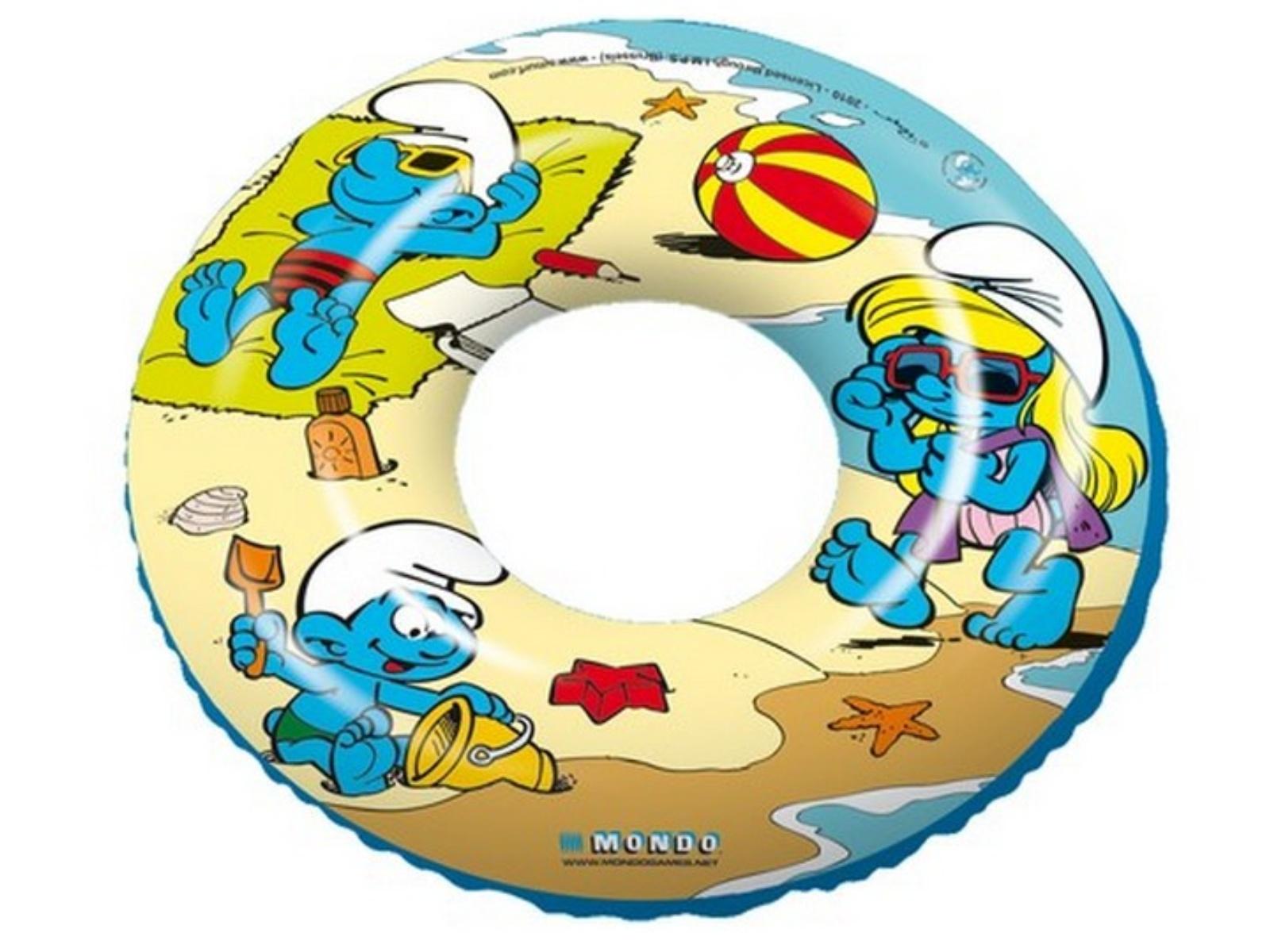 Nafukovací kruh s potiskem ŠMOULOVÉ 50 cm