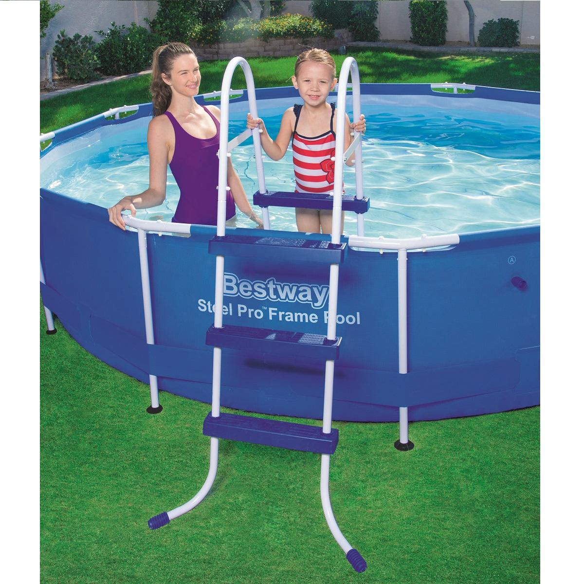 Schůdky do bazénu s výškou 91 cm