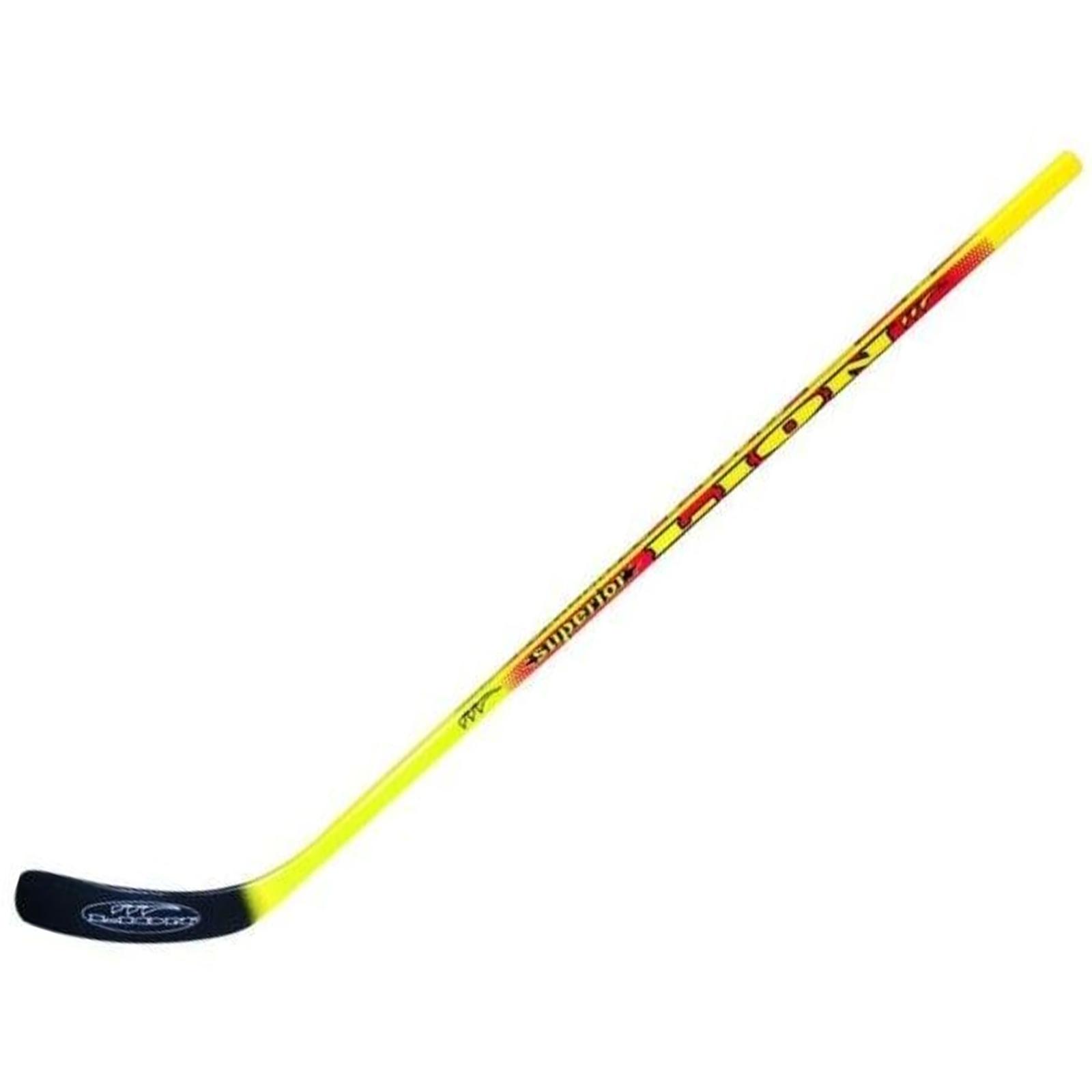 Hokejka LION 6600 - 107 cm levá - červeno-žlutá