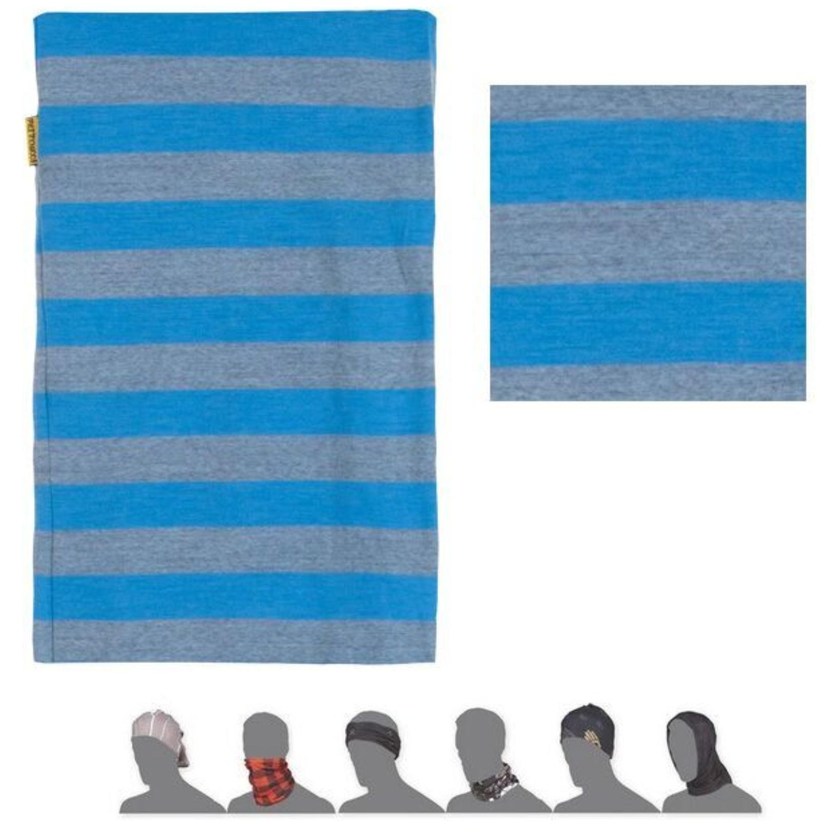 Šátek SENSOR Tube Merino wool modrý - pruhy