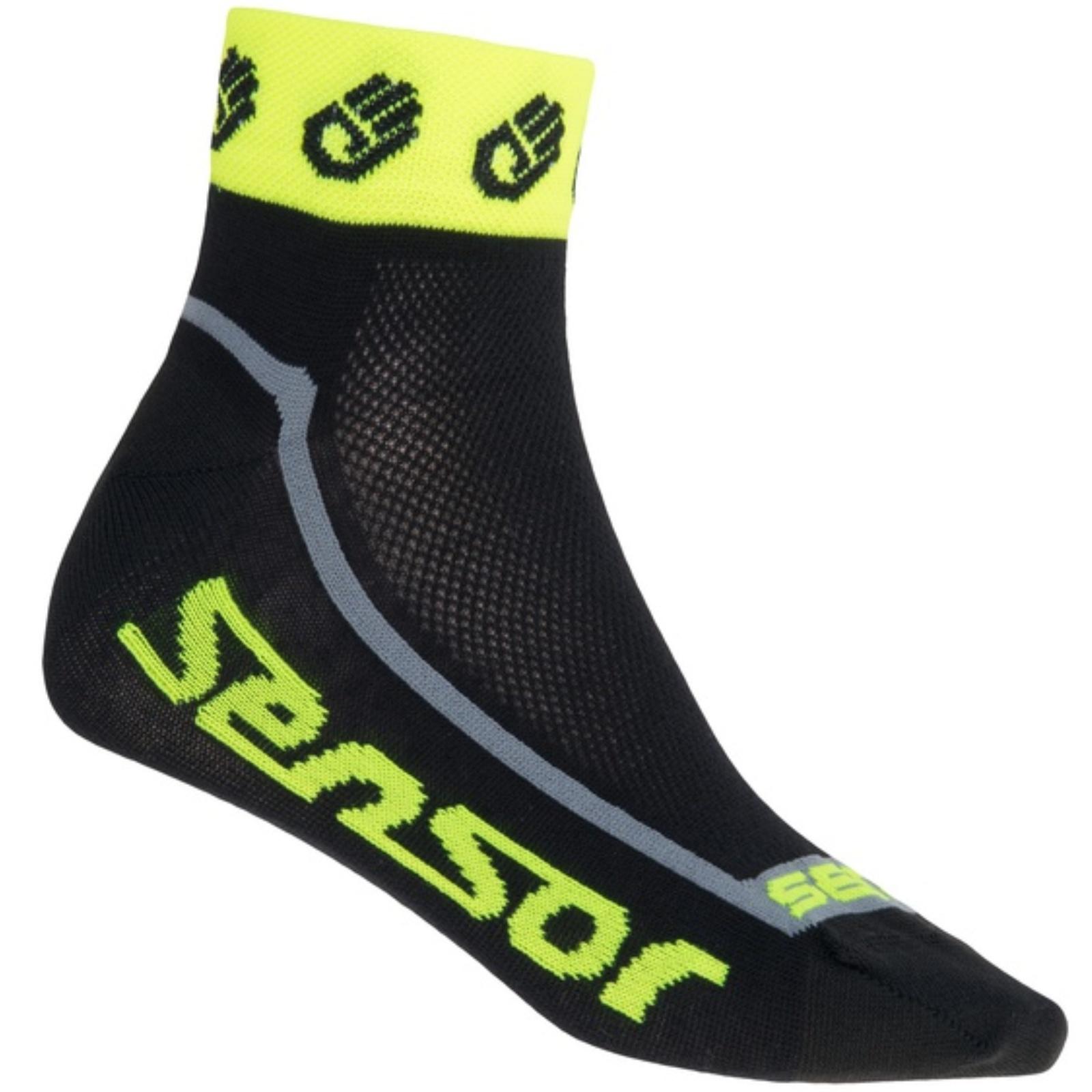 Ponožky SENSOR Race Lite Ručičky reflex žluté vel. 6-8