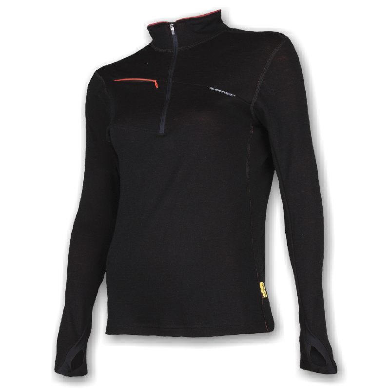 Mikina SENSOR Merino Multistretch zip dám. XL černá
