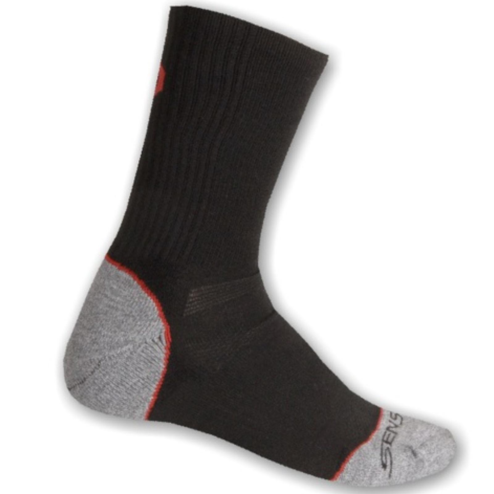 Ponožky SENSOR Hiking Bambus 3-5 černo-červené