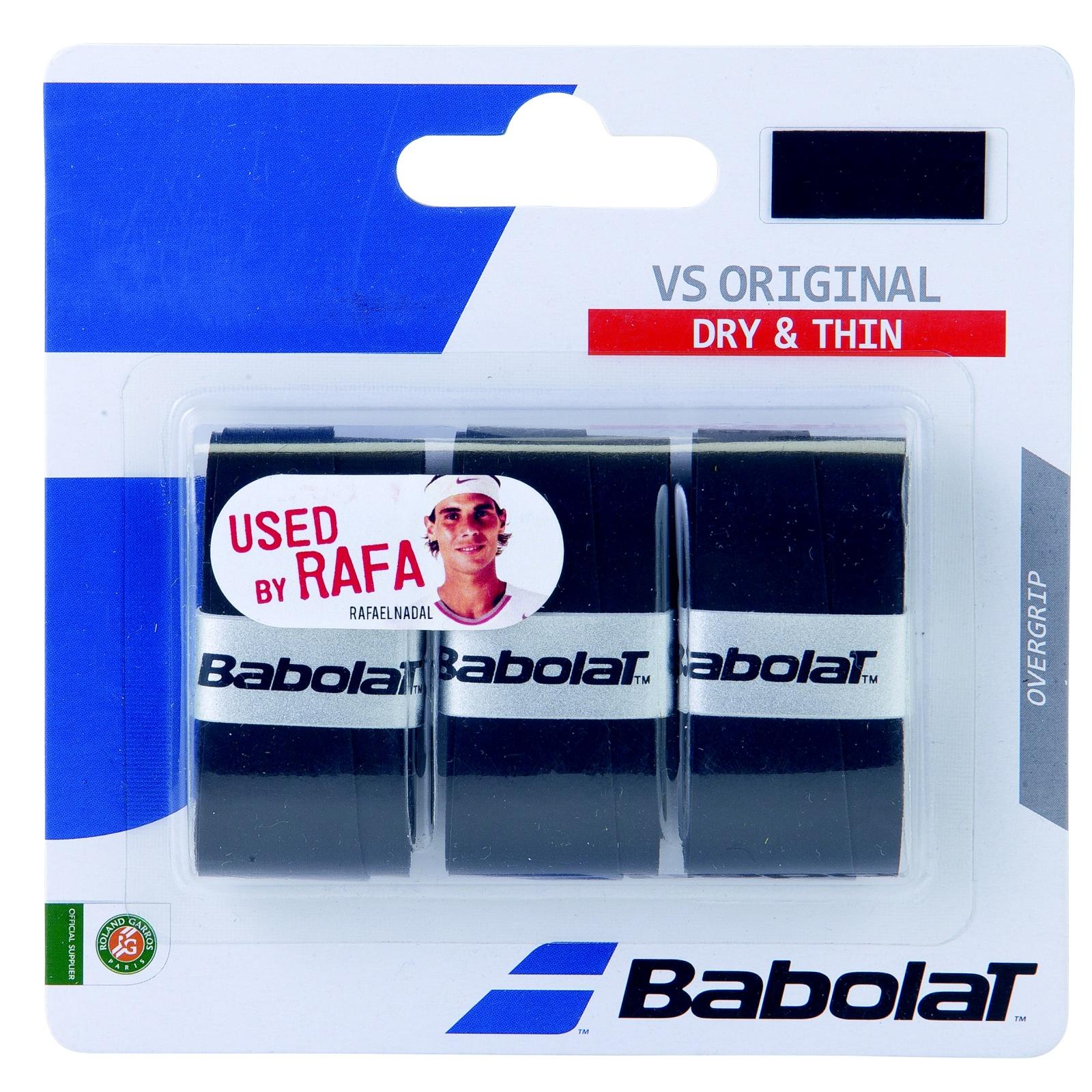 Tenisová omotávka BABOLAT VS original grip X3 - černá