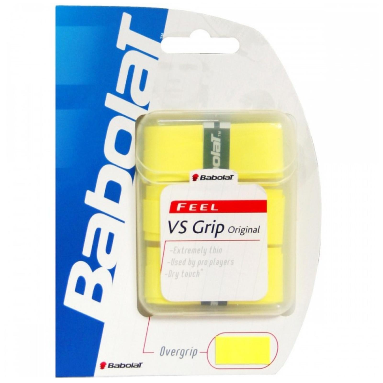 Tenisová omotávka BABOLAT VS original grip X3 - žlutá