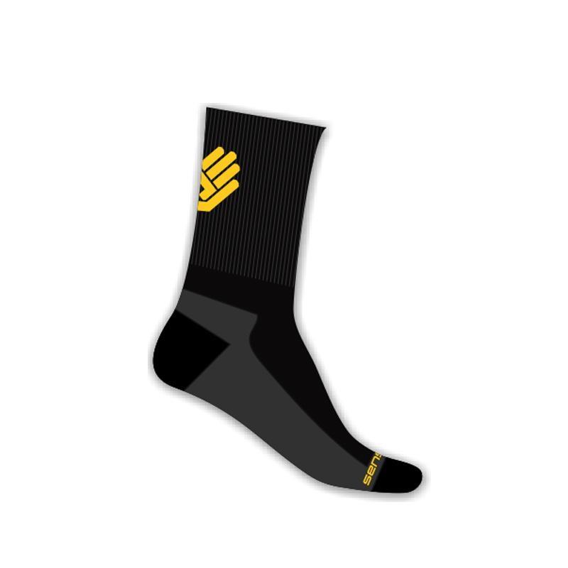 Ponožky SENSOR Race Lite ruka vysoké 6-8 černožluté